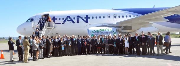 LAN y Air BP Copec realizaron el primer vuelo comercial con biocombustible de segunda generación en Sudamérica