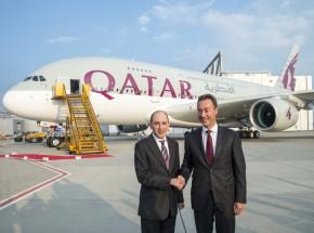 Handing over Qatar Airways new A380 flagship