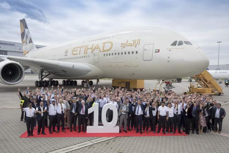 ETIHAD AIRWAYS CELEBRA LA RECEPCIÓN DE SU NUEVO Y ÚLTIMO AIRBUS ...
